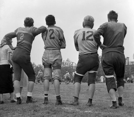 High school football, New York, 1952, photo by Frank Oscar Larson