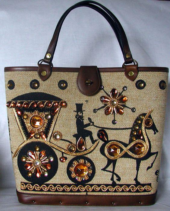 Enid Collins Vintage Handbag  CARRIAGE TRADE: