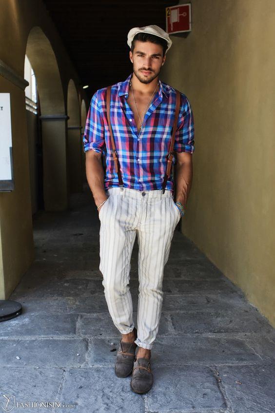 Gaastra Jacket Summery Chinos And A Vibrant Checked Shirt