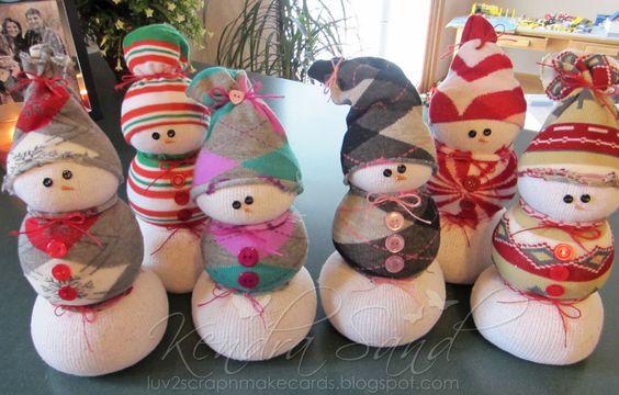 Luv 2 Scrap n' Make Cards: Sock Snowmen