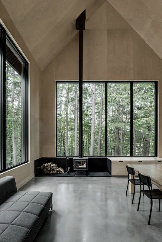 This Black Cabin In The Woods Is Surprisingly Bright Inside The Manual Interior Architecture Minimalist House Design Modern House Design