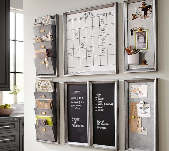 Build Your Own - Galvanized Modular Wall System Components | Pottery Barn. We love this organization station for keeping our busy life on track. #LGLimitlessDesign & #Contest