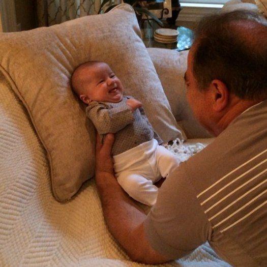 Video: Danielle Jonas' dad makes Alena Rose Jonas laugh!