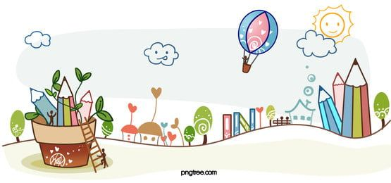 Hand Painted Cartoon School Background Hand Painted Drawing Lessons For Kids Graphic Design Background Templates