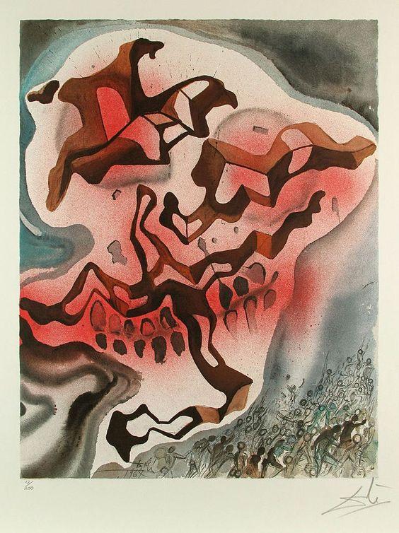 Salvador Dali, Yea Though I Walk..., Lithograph on Paper, Aliyah, 1968 / #art