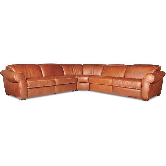 Natuzzi Brandy Leather 5-Piece Sectional Tanner Dimensions 128 W x 44 D x 44 H Shipping Weight 430.0 lbs. Finish Brandy | Sectionals/Reclining | Pinterest u2026  sc 1 st  Pinterest : 5 piece leather sectional - Sectionals, Sofas & Couches