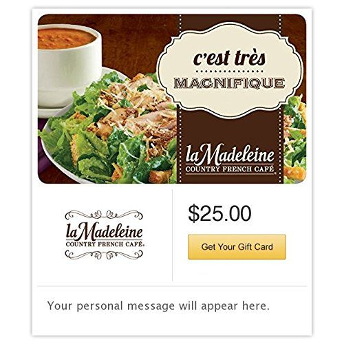 La Madeleine Country French Caf Gift Cards Email Delivery ** Click ...