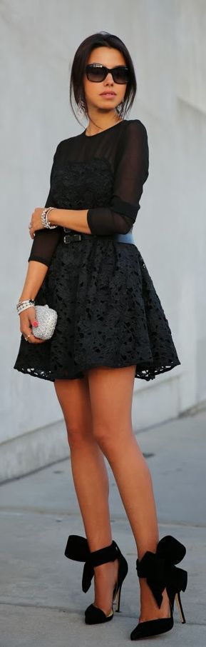 Holiday Luxe - #Little #Black #Lace  by Vivaluxury: