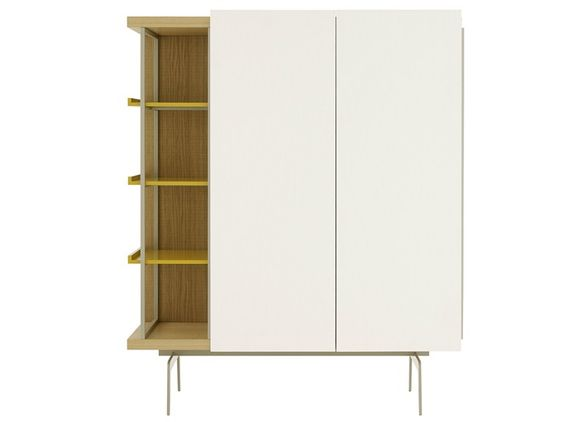 Alacena lacada de madera con puertas Colección Mixte by ROSET ITALIA | diseño Mauro Lipparini