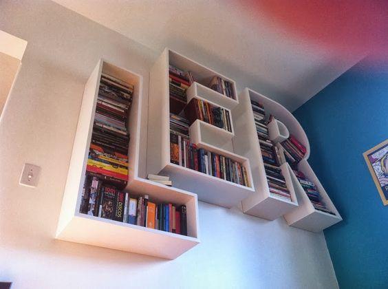 Livros on pinterest - Estante para libros ...