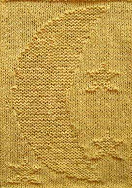 Free Moon And Stars Baby Blanket Knitting Pattern karen Pinterest Yarns...