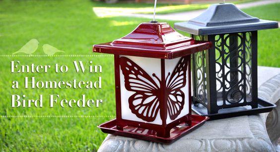 Outdoor Living is giving away two bird feeders!