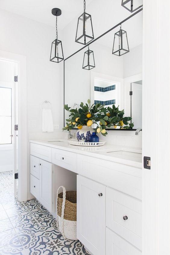 Corner Lot Modern Farmhouse In 2020 Jack And Jill Bathroom Girl Bathrooms Home
