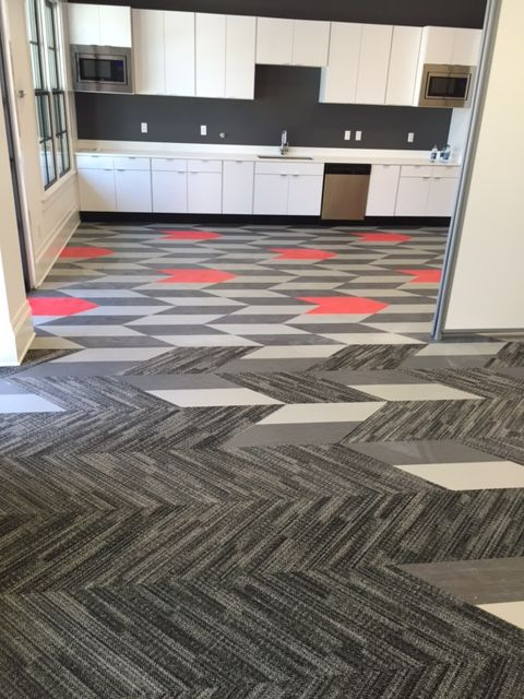 Mixed Materials Carpet And Resilient Tile From Patcraft Carpet Design Floor Design Commercial Carpet