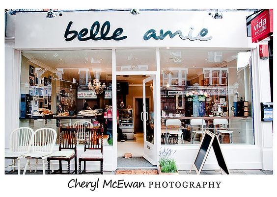 The Belle Amie Cafe, my favourite place in Earlsfield. Cute photos by Cheryl McEwan!