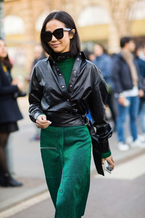 Yoyo Cao - the outfit is simple yet distinctive. Love the green.