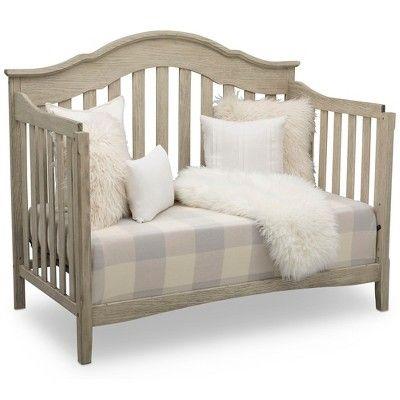 Delta Children Farmhouse 6 In 1 Convertible Crib Textured Limestone Convertible Crib Headboards For Beds Baby Cribs Convertible