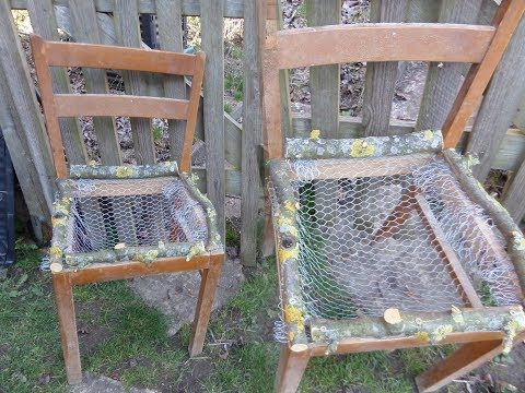 Diy Pflanzstuhl Deko Stuhl Einfach In Upcycling Machen Youtube In 2020 Pallet Garden Furniture Upcycled Home Decor Chair Planter