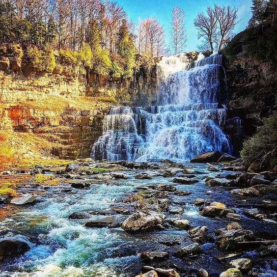 Falling in love with Chittenango Falls!  Check out @ILoveNY for more New York State travel inspiration. #ILoveNY (: @exmezzo) by beautifuldestinations
