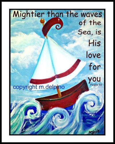 Whimsical nautical nursery sailboat bible kid inspiration for Bible verses about fish