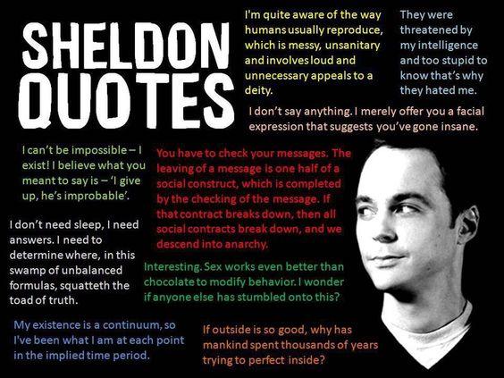 Sheldon Cooper quotes :)