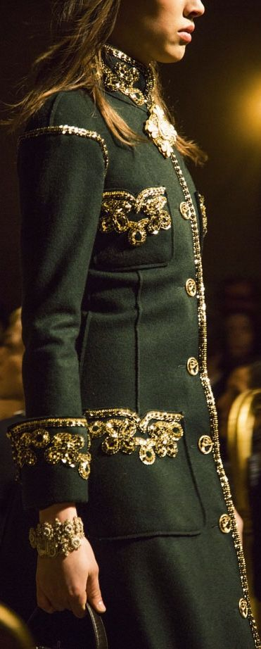Chanel green coat - What I would wear if I were a fantasy villian.