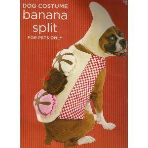 Banana Split Dog Halloween Pet Costume (Large Size 25-50 Lb)