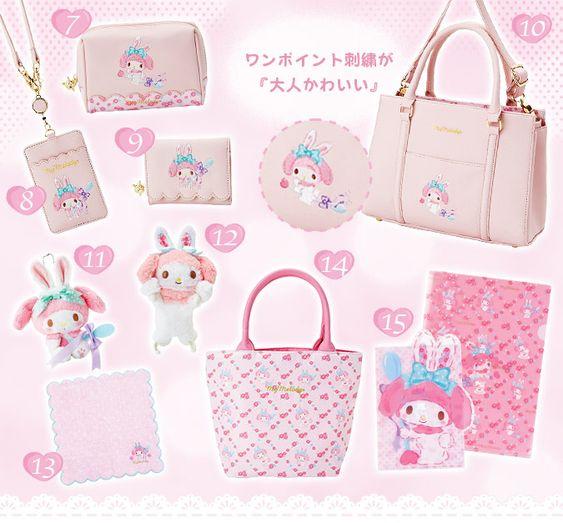Mewkledreamy Sanrio Wallet Purse Heart Coin case Card pocket Japan New Free Ship