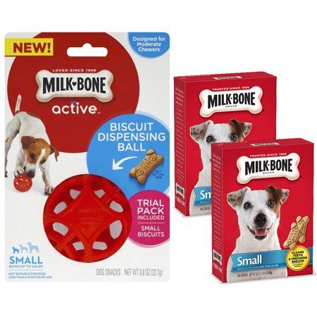 Bundle Save Milk Bone Active Biscuit Dispensing Ball For Small