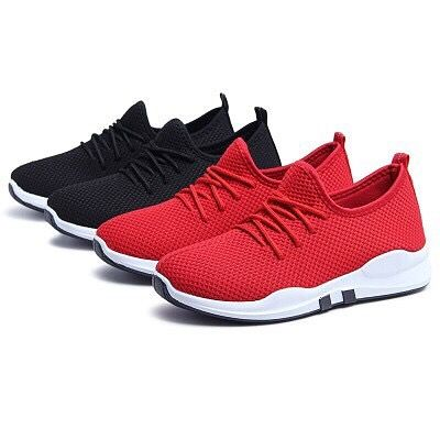 Men Women/'s Running Trainers Lace Up Flat Comfy Gym Casual Sports Shoes Sneakers