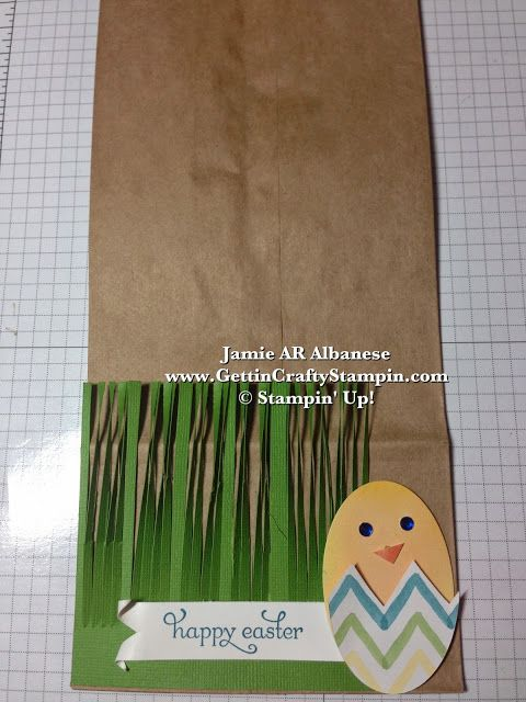 Gettin' Crafty Stampin' with Jamie: Easter Chick Punch-Art bag