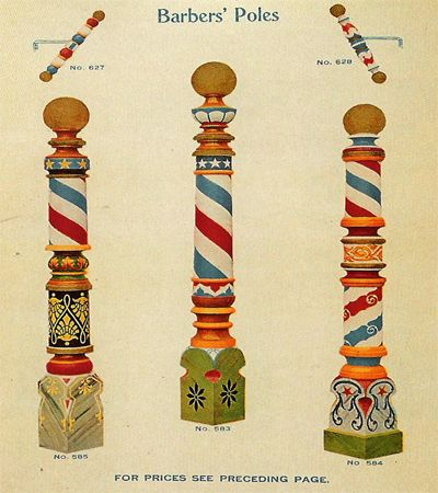 WEEK 5 / history/MISC. / antique barber's poles / @The Art of Shaving