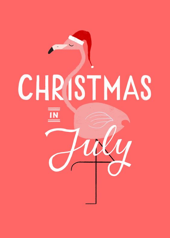 christmas in july awesome flamingo:
