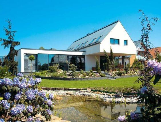 modern gable flat roof adjoining - Google Search | Modern house design | Pinterest | Modern ...