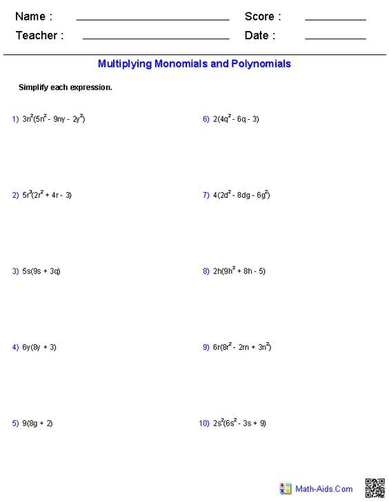 math worksheet : multiplying polynomials worksheets  math aids com  pinterest  : Grade 9 Academic Math Worksheets