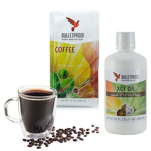Bulletproof Upgraded Starter Kit - Ground Coffee Beans 340g + 946ml XCT Oil