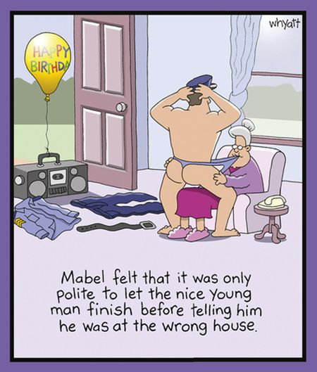 Mabel Felt That It Was Only Polite...