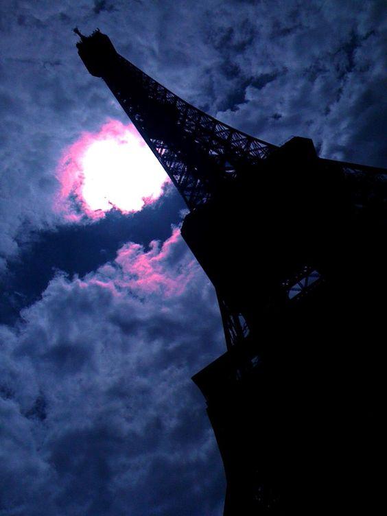 Clouded Moonlight Over Eiffel Tower  www.girlsguidetoparis.com