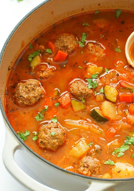 Albondigas Soup - Immaculate Bites