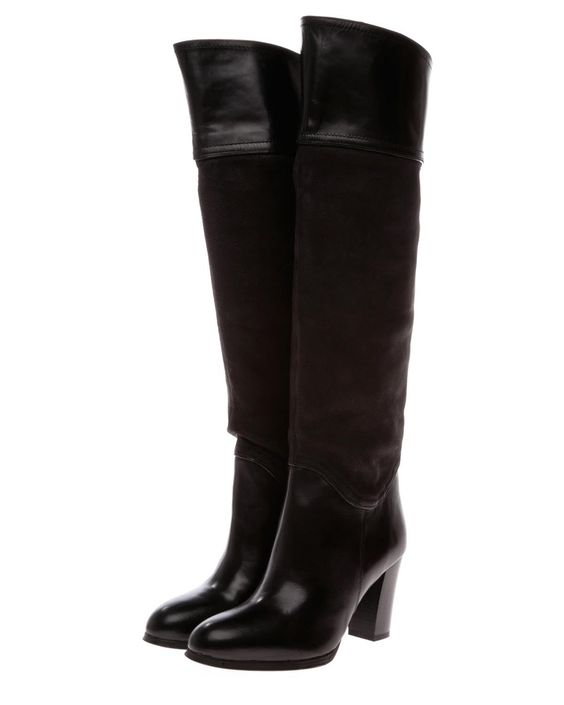 Product Name Butterfly Aldos Genuine Leather Knee Boots - Made in France at Modnique.com