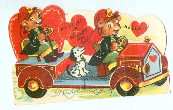 Vintage Firefighting Bears in Fire Truck w/ by FairOaksAntiques, $5.99