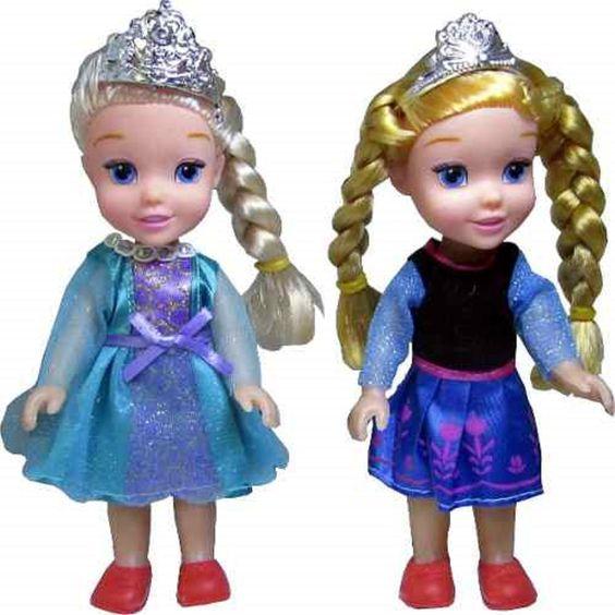 bonecas Ana ou elza vem na caixa ideal para dar de lembrancinha. <br>vendido separadamente <br>14x 7 <br>acompanha caixa