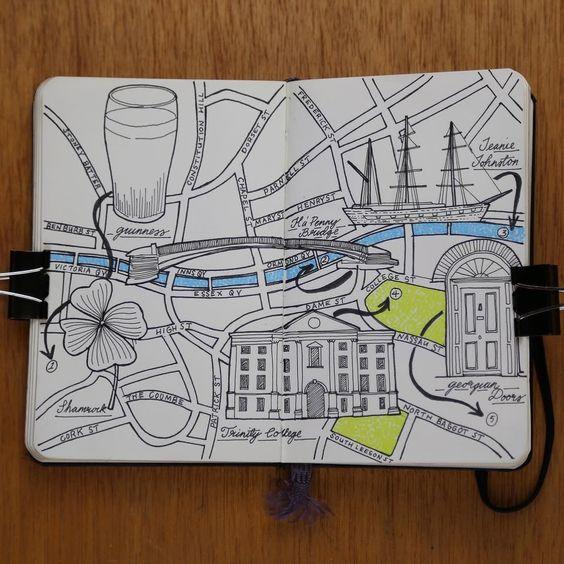 Happy St Patrick's day everyone have a fun day celebrating Dublin moleskine city map drawing #Dublin #Ireland #travelmap #ink #pen #illustration #draw #drawing #sketch #sketching #rotring #stationary #inkstagram #inkart #inky #sketchpad #sketchbook #sketchbookdaily  #traveldraw #traveldrawing #travelvlogger #travelmap #traveljournal #travel #creative #inspiration #iamatraveler #moleskine #TLPicks
