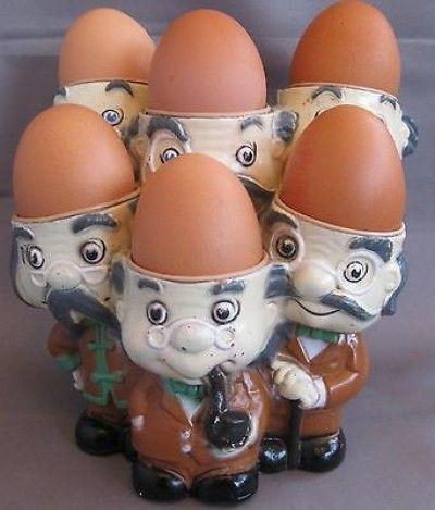 Porta ovos vintage retro 1960's 1970's