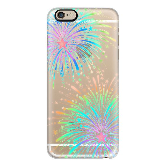 iPhone 6 Plus/6/5/5s/5c Case - New Year's Radiant Rainbow Fireworks -... ($40) ❤ liked on Polyvore featuring accessories, tech accessories, phones, phone cases, iphone case, iphone cover case, transparent iphone case, apple iphone cases and rainbow iphone case