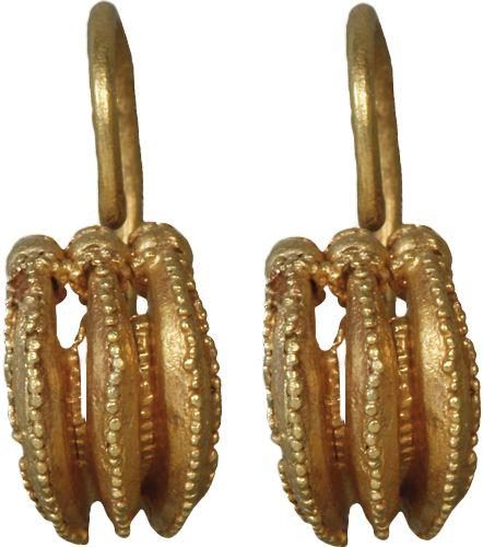 Joias de Troia  - par de brincos de ouro