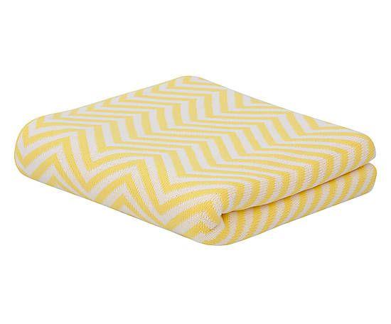 Manta para sofá chevron amarela - 130x175cm