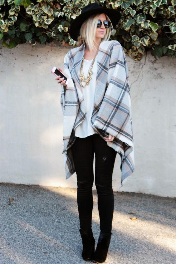 DRAPED IN PLAID + CAPE TUTORIAL   Elle Apparel   Bloglovin'