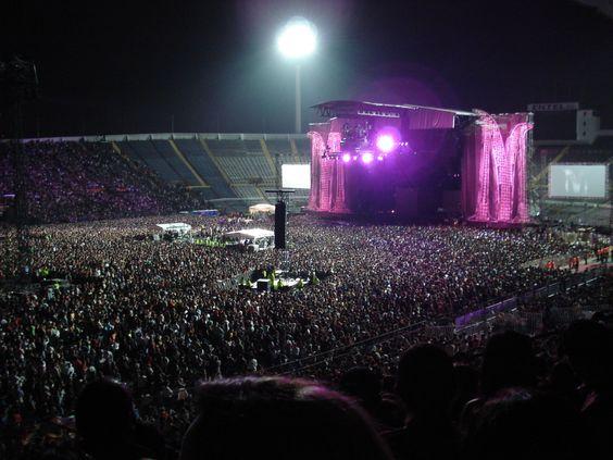 Un concierto in Santiago. Es muy divertido.