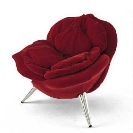 The petals of the rose chair form the padding for the seat.This item may be purchased on ecofirstart.com